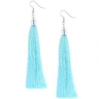 Statement oorbellen turquoise