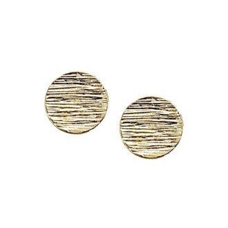 Punker ronde oorbellen goudkleurig