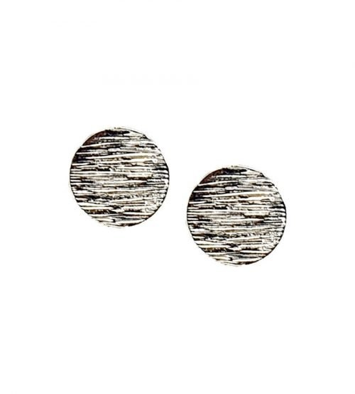 Punker oorbellen zilverkleurig