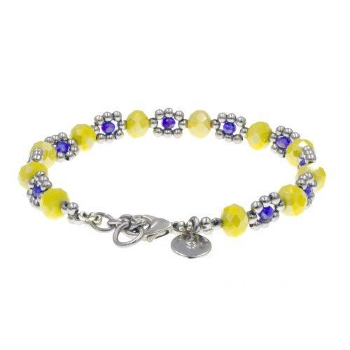 kralen-armband-geel-blauw