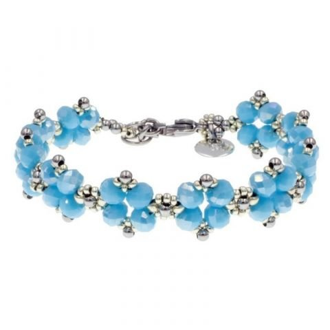 Kralen armbandje lucht blauw