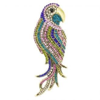 Exotische papegaai broche