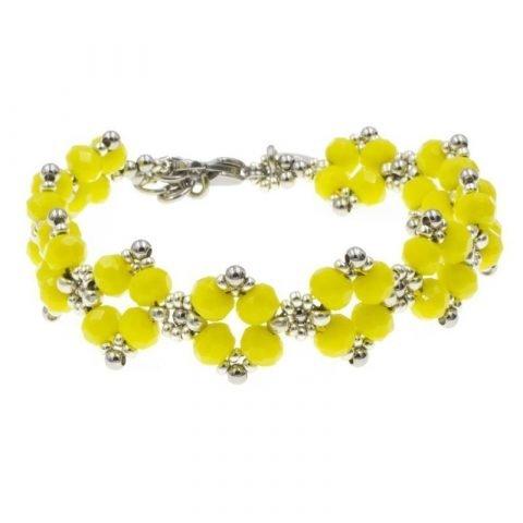 Kralen-armband-dames-geel