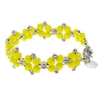 Kraaltjes armband dames geel