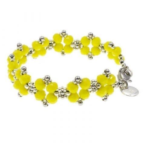 Kralen-armband-dames-geel-zijkant