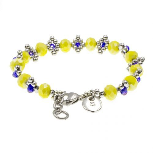 kralen-armband-geel-en-blauw-achterkant