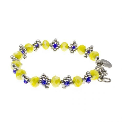 kralen-armband-geel-en-blauw-zijkant