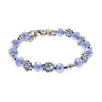 Flower armband blauw