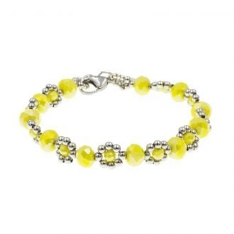 Yellow flower armband