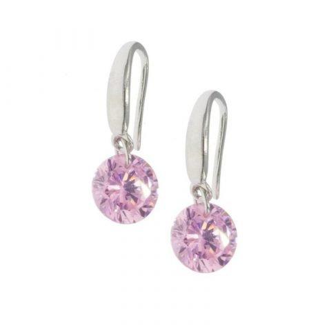 Oorhangers-met-ronde-kristal-roze