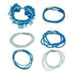 20 blauwe elastiekjes