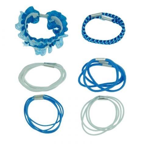 20 blauwe haarelastiekjes