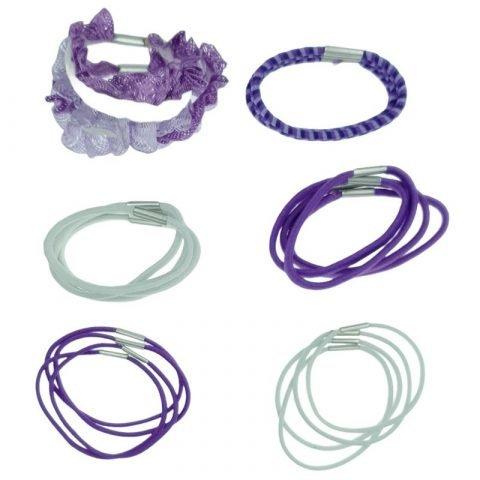 20 paarse haarelastiekjes