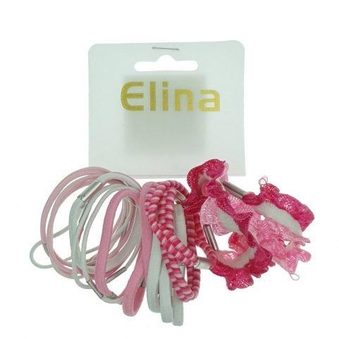 Haarelastiekjes roze 20 stuks