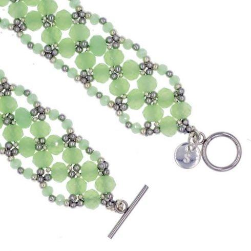 leaf-kralen-armband-groen-sluiting