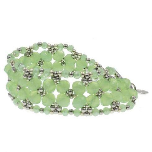 leaf-kralen-armband-groen-zijkant