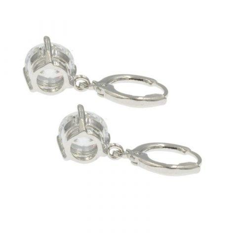 Witte paar oorbellen