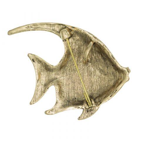 Vis broche achterkant